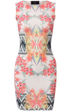 #CLOTHING CLOSET EVIE PRINT BODYCON DRESS by rubyredboutique.co.uk for £22.00