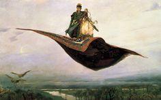 Ковер-самолет - Васнецов, Виктор Михайлович, картина в высоком разрешении