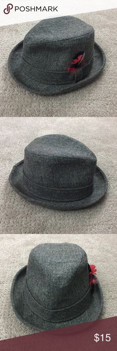 Vintage Pendleton Tweed Fedora Vintage Pendleton Woolen Mills Tweed Fedora with red, white and black feathers. Size 7, pure virgin wool. Good condition no staining on wool. Some discoloring on interior hat lining. Some small dents around brim and top of hat. Pendleton Accessories Hats