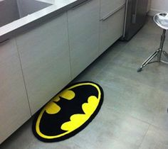 Batman Rug from The Gadget Flow. Saved to Awesome Gadgets.