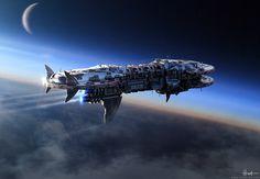 ArtStation - Shiva : The Destroyer of Worlds , Nick Hiatt Spaceship Design, Spaceship Concept, Concept Ships, Spaceship Art, Gi Joe, Zbrush, Cyberpunk, Sci Fi Spaceships, Space Battles