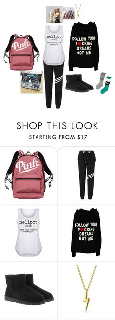 """""""Untitled #246"""" by kobrakidisinlove ❤ liked on Polyvore featuring Victoria's Secret, LC Trendz, UGG Australia, Bling Jewelry, Victoria's Secret PINK and plus size clothing"""