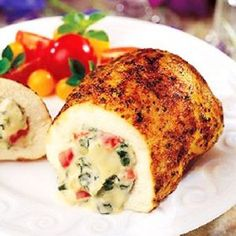 Stuffed Chicken Breast Cheese And Tomato #Food #Drink #Trusper #Tip