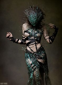 """Deeply wicked"" by Xecica.deviantart.com; an amazing piece of costume design/making."
