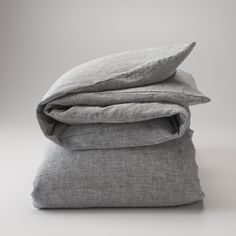 Gray Linen Duvet Cover by Schoolhouse Electric
