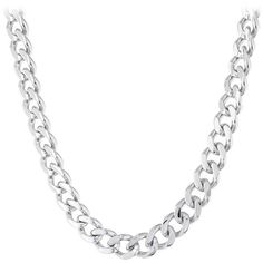 PRIMO Men's 24 12mm Chunky Curb Neck Chain in Stainless Steel ($50) ❤ liked on Polyvore featuring men's fashion, men's jewelry, men's necklaces, silver, mens stainless steel necklace, mens necklaces, mens stainless steel chain necklace, mens thick gold chains and mens chain necklace