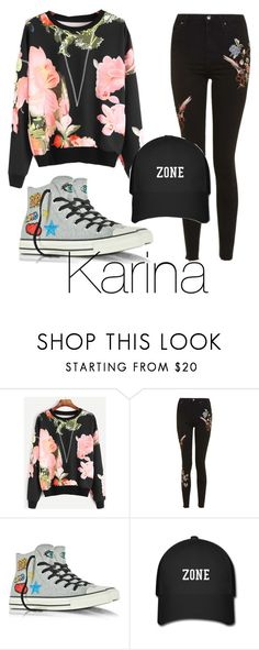 """Untitled #73"" by halissiaelviracra on Polyvore featuring Topshop and Converse"