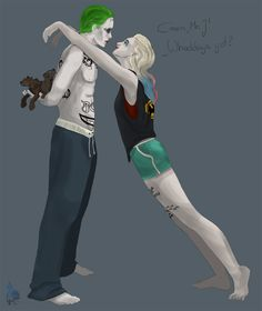 Ok Harley and jokers relationship is do messed up but this is adorable