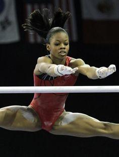 "Ю - Gabrielle ""Gabby"" Douglas -- Artistic Gymnast. She attended the 2012 Summer Olympics. Gymnastics Photography, Gymnastics Pictures, Sport Gymnastics, Artistic Gymnastics, Olympic Gymnastics, Black Gymnast, Female Gymnast, Gabby Douglas, Belle Nana"