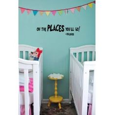 Dr.Seuss quote oh the places you'll go wall saying vinyl decal