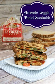 Avocado Veggie Panini Sandwich Recipe + Giveaway!