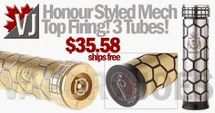 Honour Styed Top-Firing Mechanical Mod with All 3 Sizes of Tubes