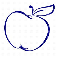 Big Apple Clip Art | Apple shape simple outline, download royalty-free vector clipart (EPS)