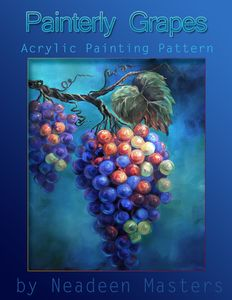 Art Apprentice Online - Painterly Grapes - Acrylic Painting Pattern by Artist Neadeen Masters Acrylic Painting Techniques, Painting Lessons, Art Lessons, Painting Tips, Learn To Paint, Learn Painting, Decoupage, Online Art Classes, Watercolor Fruit