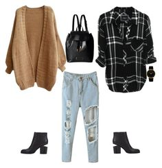 """""""City girl in the Fall"""" by tiyam ❤ liked on Polyvore featuring Larsson & Jennings, Marc by Marc Jacobs and Alexander Wang"""