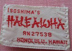Isoshima's Halealoha clothing Label Vintage Outfits, Vintage Clothing, Clothing Labels, Vintage Labels, Story Of My Life, Recycling, Design Inspiration, Cool Stuff, Clothes