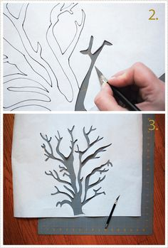 DIY stencils for swedish mini canvas decor - draw on freezer paper, cut out, iron on fabric, then paint