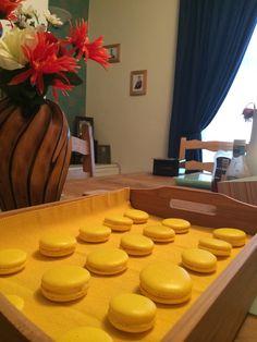 Lemon macarons- first attempt...