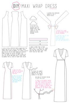 Cotton & Curls :: free tutorial - maxi wrap dress                                                                                                                                                      More