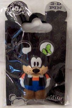 Disney Vinylmation Pin Park 4 Series Goofy New On Card Disney Trading Pins, Disney Pins, Disney World Resorts, Walt Disney World, Disney Pin Display, Disney Pin Collections, Disneyland Resort, Mickey Ears, 3 D