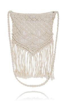 Boutique Ombre Cream Macrame Crochet Fringe Bag £18
