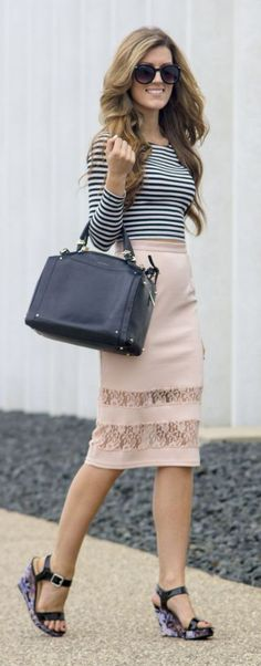 Lace Trim Skirt Styling by Chic Street Style