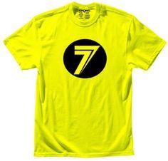 Seven Mx - Dot - Flou Yellow T-shirt - 2013 Seven Mx Gear - 2013 Motocross Gear - by Seven Mx - Seven Mxdott-shirt