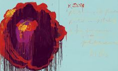 Cy Twombly-- The Rose