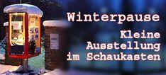 Während der Winterpause zeigen wir im Schaukasten am Lendkanal ständig wechselnde Ausstellungsstücke aus unserer Sammlung und arbeiten an der Sonderschau 2020. Museum, Pause, Winter, Movie, Cinema, History, Winter Season, Museums
