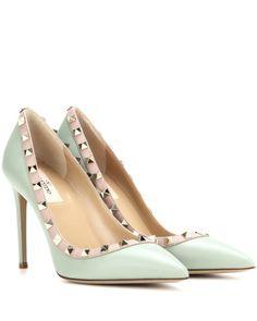 Valentino | Green Rockstud Leather Pumps | Lyst Shoe Lyst...