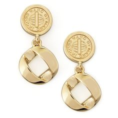 MARC by Marc Jacobs Cable Link-Drop Earrings, Yellow Golden ($88) ❤ liked on Polyvore featuring jewelry, earrings, yellow, yellow drop earrings, yellow jewelry, cable earrings, golden earring and marc by marc jacobs earrings