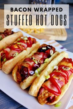 Grilling Recipes, Cooking Recipes, Grilling Ideas, Smoker Recipes, Hot Dog Recipes, Brunch Menu, Summer Bbq, Best Appetizers, Bacon Wrapped