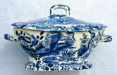 a cream tureen and cover with Ornithological scenes - unmarked