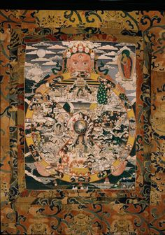 The Wheel of Life; Himalayas,Thangkha, 19th - 20th century