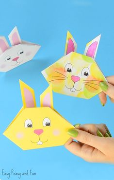Origami Bunny Template Craft Idea