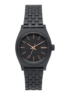 Nixon Small Time Teller   All Black / Rose Gold -  - Bloomsbury Store - 1