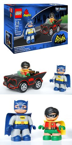 LEGO DUPLO Batman & Robin (custom) - my boys are way too old for duplos!  But I love these!   May just need to get them to put on a shelf in the playroom:)