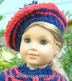 Elizabeth showing off a contemporary free Beret Knitting pattern.