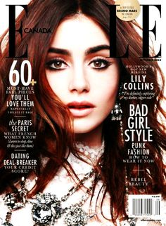Lily Collins on the cover of Elle Canada September 2013