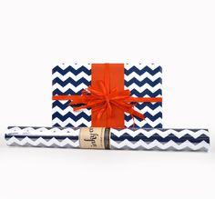 Inky Co.'s Chevron Indigo Stripes roll wrap