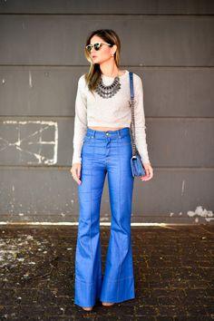 Cintura alta: um modelo retrô para deixar seu look mais atual