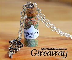 #Disney #Jewelry #Giveaway! Enter to #win magic bottle necklace of choice from @lifeisthbubbles by 11:59pm EST on June 10, 2015.