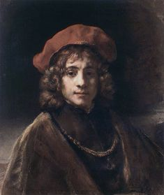 Portrait of Titus van Rijn - Rembrandt van Rijn.  c.1657.  Oil on canvas.  68.5 x 57.3 cm.  Wallace Collection, London, UK.