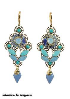 Le bleu de l'océan sur vos BO !! #ladroguerie #bijoux #bo