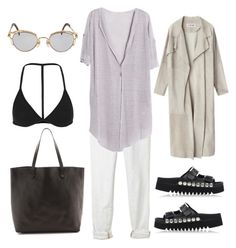 """""""Untitled #20"""" by cdignadice ❤ liked on Polyvore featuring Current/Elliott, Topshop, Jean-Paul Gaultier, KG Kurt Geiger, Madewell, ootd, typical and self"""