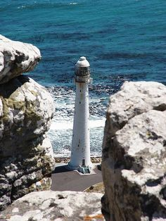 Slanghop Lighthouse is located near the town of Kommetjie, near Cape Town, South Africa. Construction was due to be completed in 1914 but due to the First World War the lighthouse wasn't completed until 1919.
