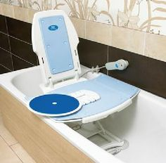 Bath Tub Lift Chair #HowtoChooseBathtubLifts >> Find out how to choose and install a bathtub lift at http://www.disabledbathrooms.org/bathtub-lifts.html