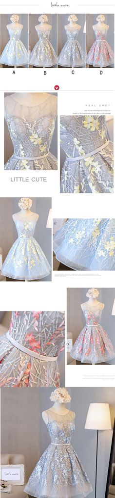 Little Cute | Charming a line lace short prom dress, homecoming dresses | Online Store Powered by Storenvy