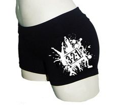 321 Splat Logo Compression Shorts - Black W/White