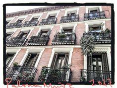 Balcones en la calle de Santa María. Barrio de Las Letras. in the street of St Mary. Barrio de Las Letras